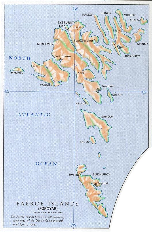 Ilhas Faroe | Província Autônoma do Reino da Dinamarca