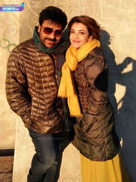 Kajal Aggarwal ,Chiranjeevi New Look In Khaidi No.150