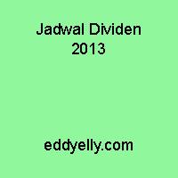Jadwal Dividen 2013