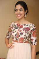 Ritu Varma smiling face Cream Anarkali dress at launch of OPPO New Selfie Camera F3 ~  Exclusive 102.JPG