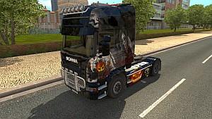 Halloween paint job for Scania R