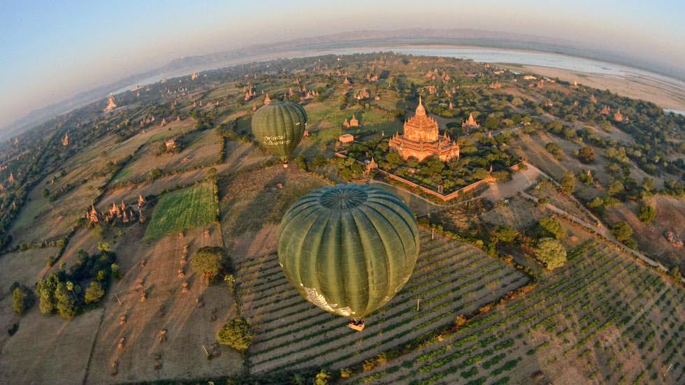 37. Bagan, Myanmar - 50 Stunning Aerials That Will Make You See the World in New Ways (PHOTOS)