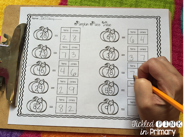 Learning about Pumpkins - Pumpkin Place Value