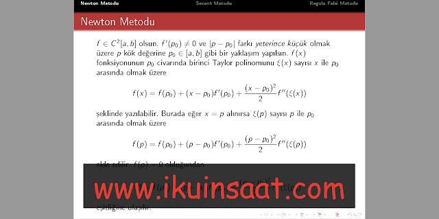 numerik analiz