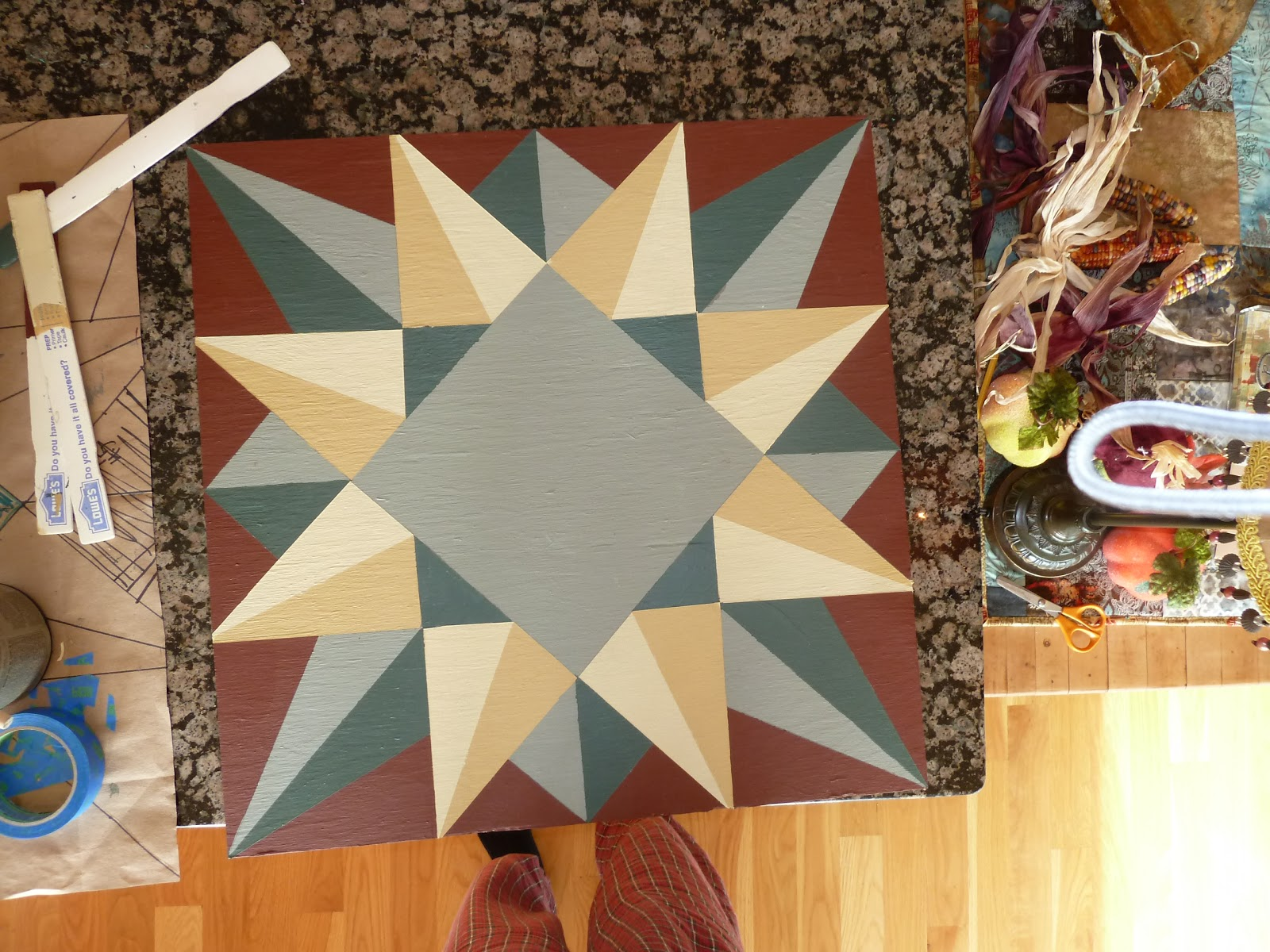 Wooden Quilt Block... Finished... almost