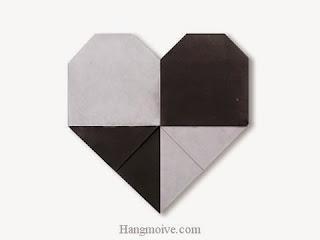 Cách gấp, xếp trái tim caro bằng giấy origami - Video hướng dẫn xếp hình trái tim quà tặng - How to fold a Caro Heart