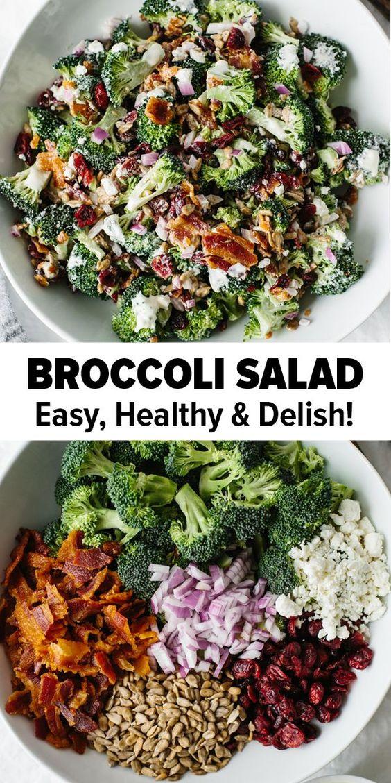 BROCCOLI SALAD #broccoli #salad #saladrecipes #tasty #tastyrecipes #delicious #deliciousrecipes