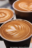 Lattes at Arabica Coffee in Kyoto, Japan