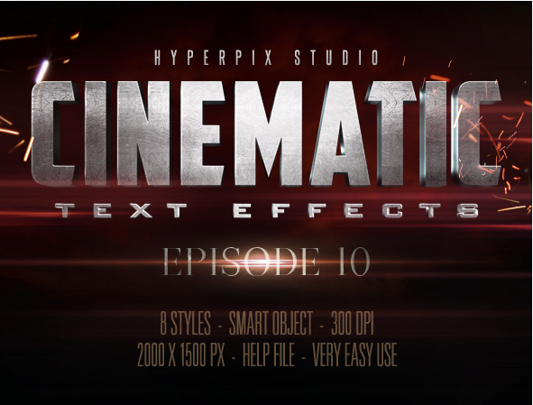 Cinematic 3D Title Text Effects Vol 10 - Free Resource for Graphic