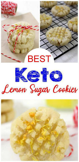 Keto Lemon Sugar Cookies