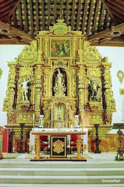Altar mayor de la Iglesia de la Inmaculada Concepción La Malahá - A una hora de Granada - TuvesyyoHago