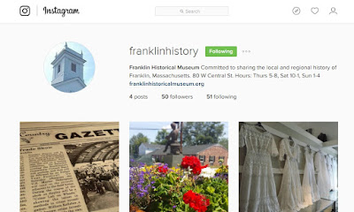 Franklin Historical Museum now on Instagram