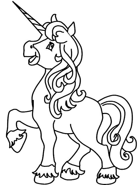 Gambar Mewarnai Unicorn - 7