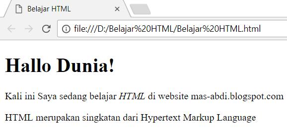 Cara Membuat Huruf Miring Dalam HTML Dengan Tag i dan Tag em 1