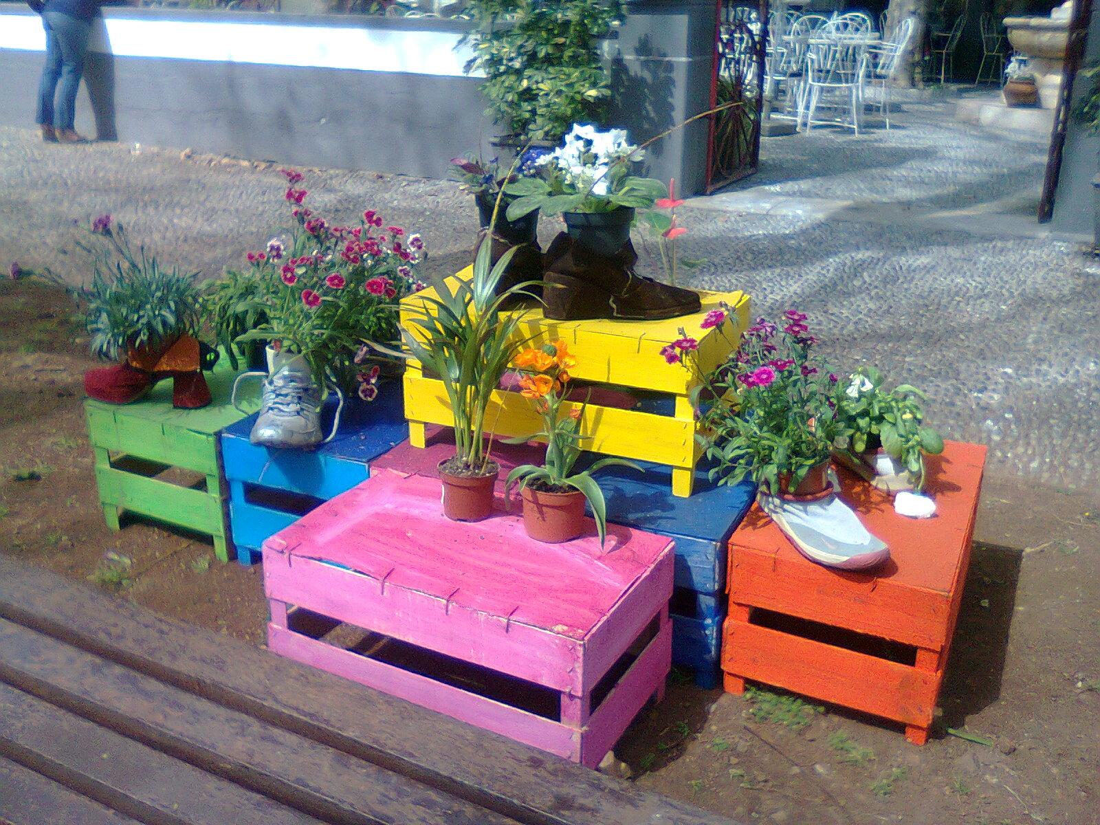 Decoraç u00e3o De Jardim Com Material Reciclado -> Decoração De Jardim Com Material Reciclavel