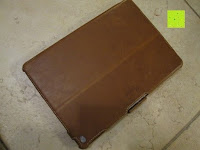 Rückseite: Leicke MANNA Schutzhülle Apple iPad Air 2 braun