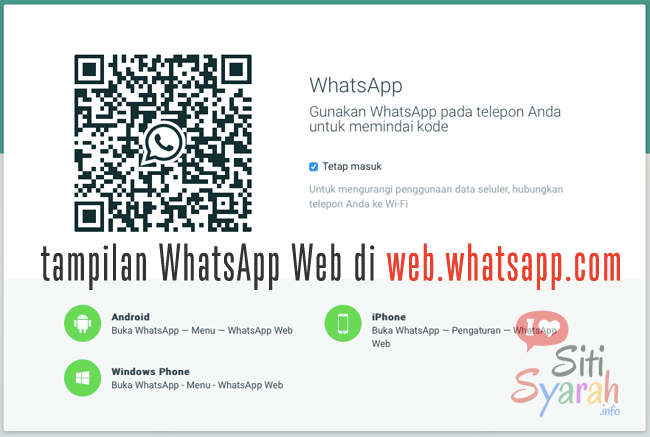 cara scan whatsapp web