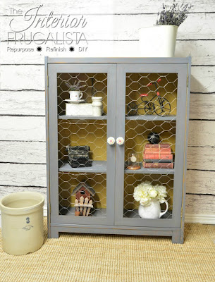 Vintage Bookcase to Farmhouse Cabinet After