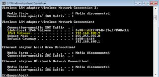 Cara Melihat IP Address di komputer pc net
