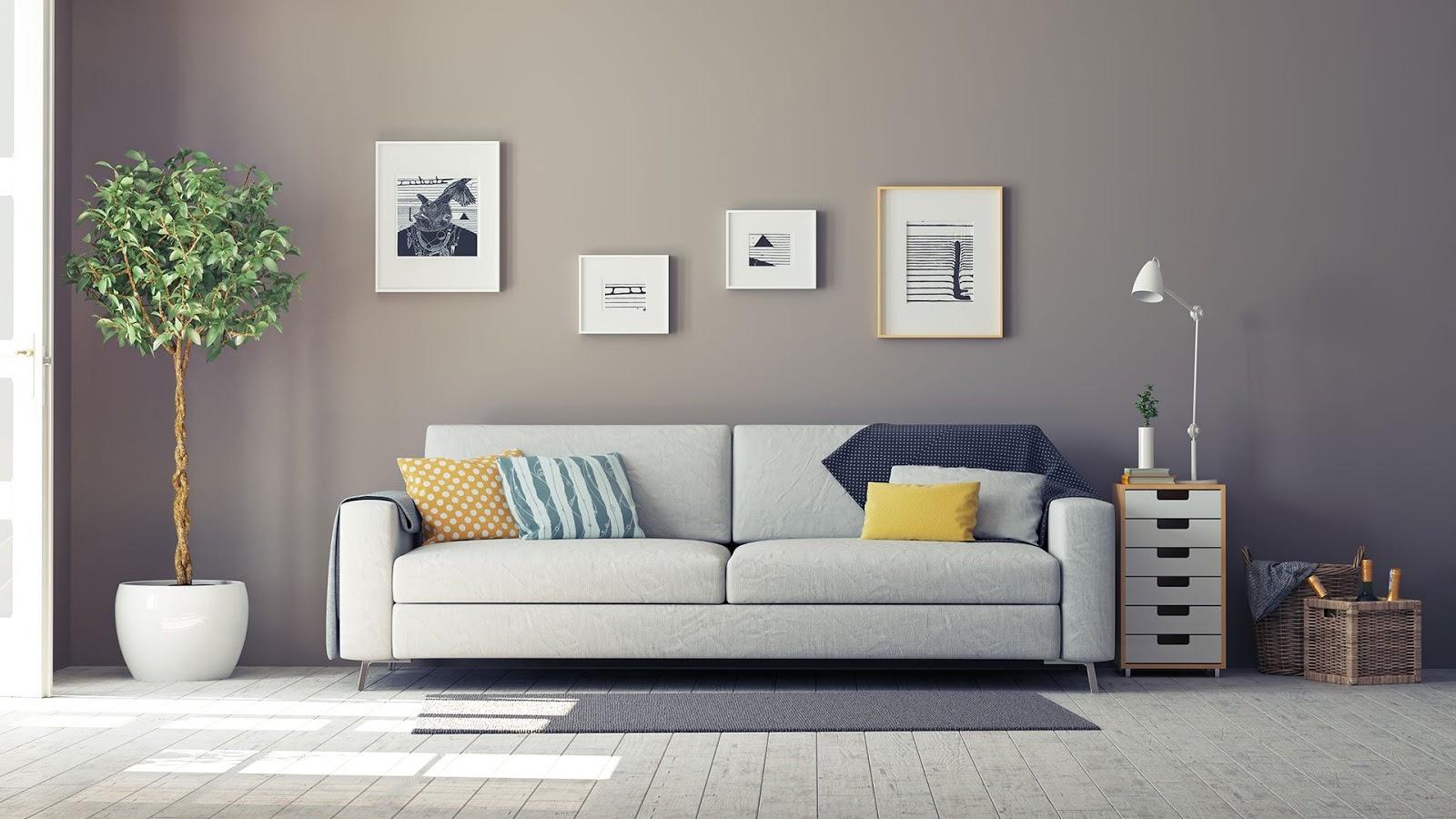Interior with grey walls