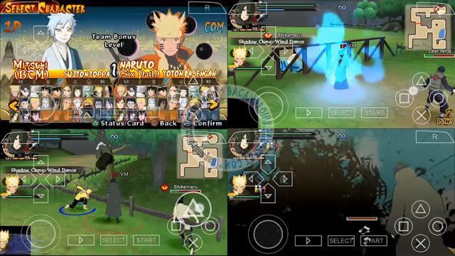 Naruto Shippuden Ultimate Ninja Legacy mod Iso Cso PPSSPP savedata textures