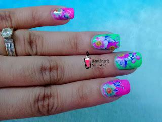 Transfer foil nail art