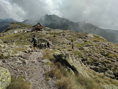 A view of Rifugio Benigni.
