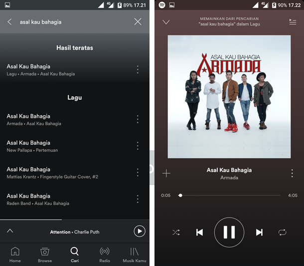 cara mendengarkan lagu online di android