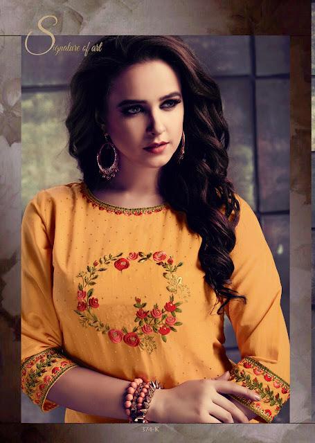 Dhanyawad ghoomar Chanderi kurtis Latest design