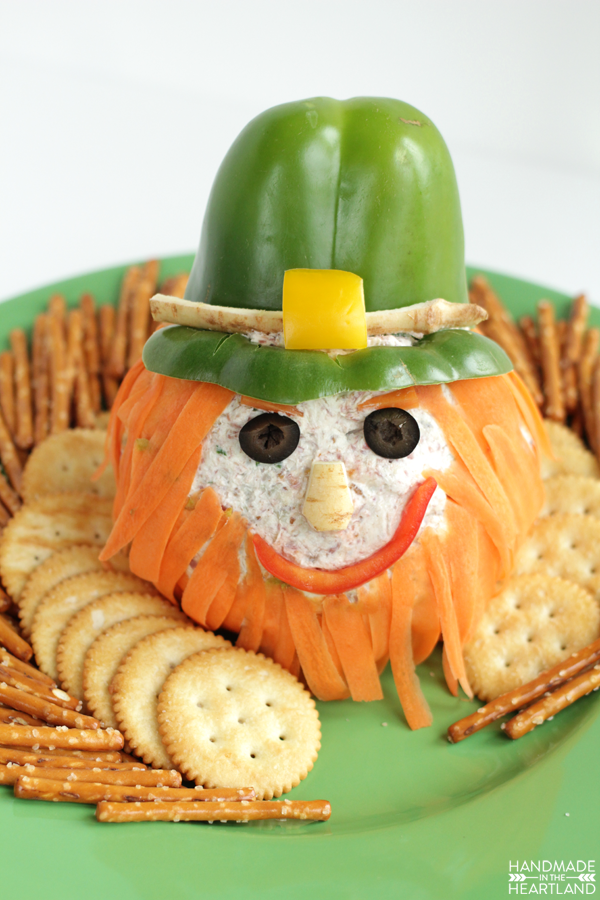 Corned Beef Leprechaun Cheeseball appetizer recipe