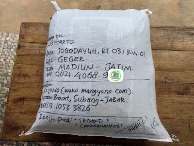 Benih pesanan SUGIHARTO Madiun, Jatim.   (Sesudah Packing)