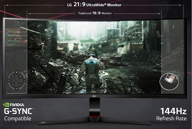 Fast 144 Hz Refresh Rate or even 166 Hz overclocked