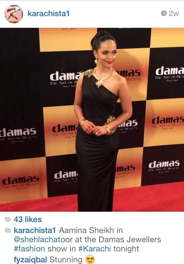 Damas Jewellery launch - Aamina Sheikh - Karachista  -  Pakistan Instagram Accounts