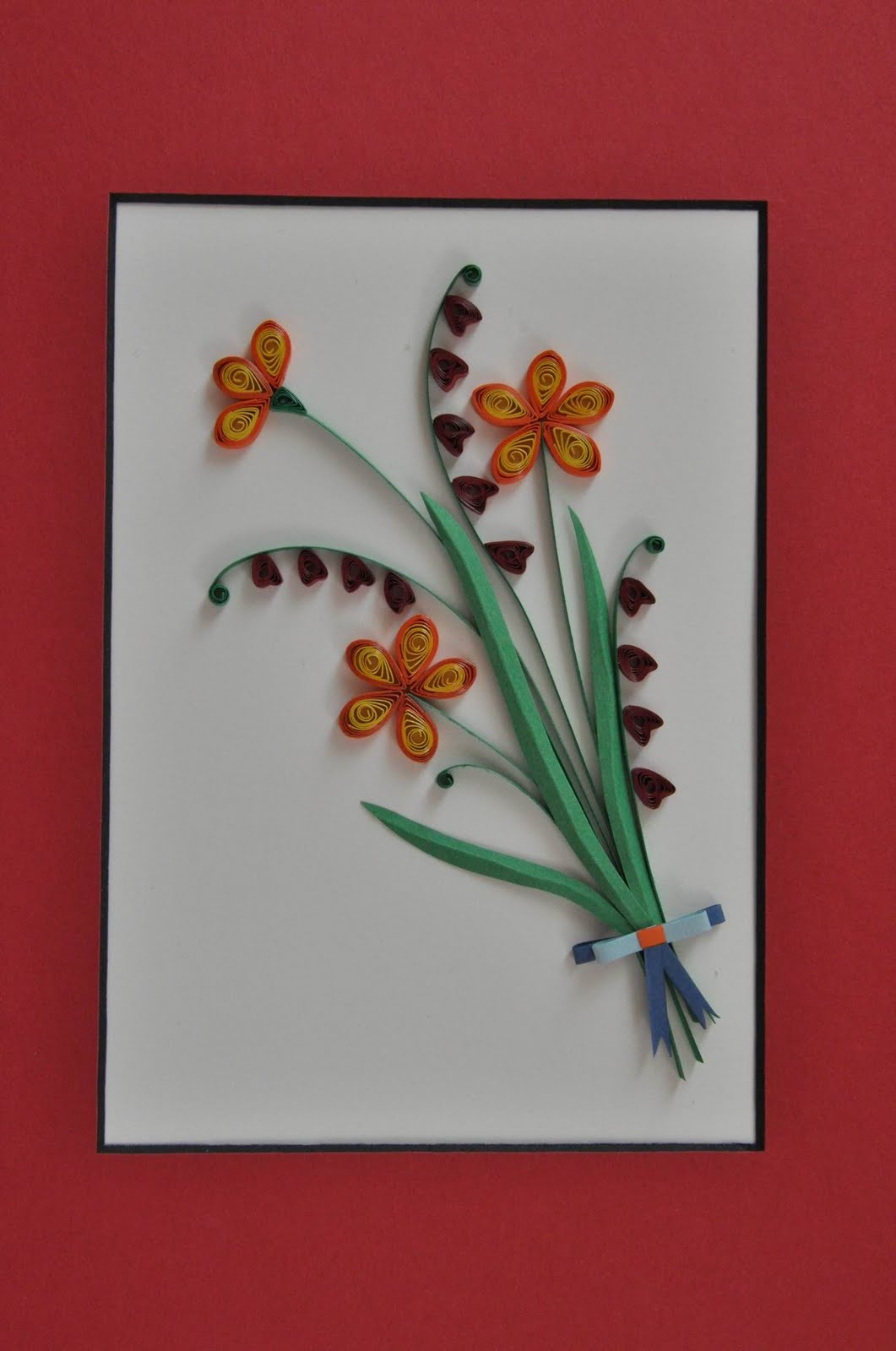 Paper quilling frame designs creative art craft work for Paper quilling work