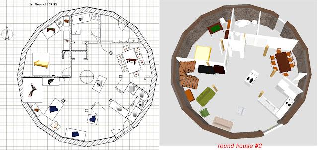 Round Homes Floor Plans: Stone Table Farm: House Plans