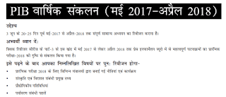 PIB One year Current Affair in Hindi - UPSC Prelims 2018