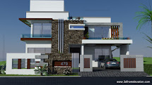 3d Front 500 Square Yards House Plan