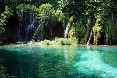 Waterfall in Plitvice Lakes