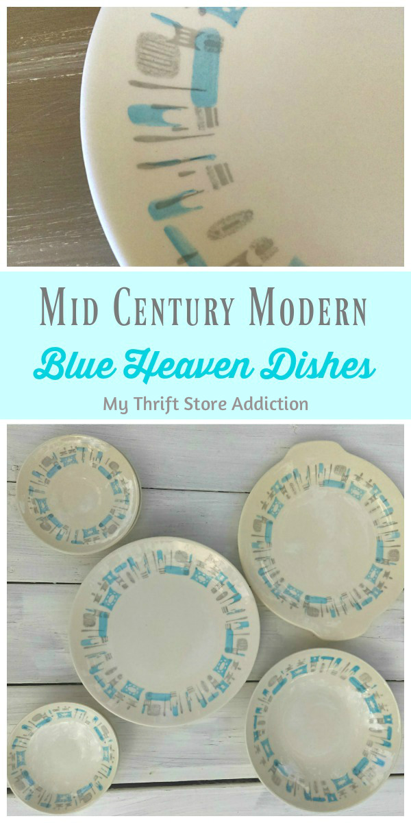 mid century modern Blue Heaven dishes