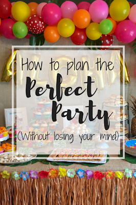 How to plan the perfect party to keep from losing your mind. Step-by-step guide to party planning. Party planning North Alabama
