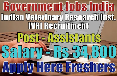 IVRI Recruitment 2019
