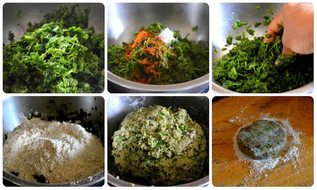 Palak Paratha/Spinach Paratha