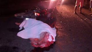 Condutor de motocicleta bate em vacas na cidade de Sossego e morre no local