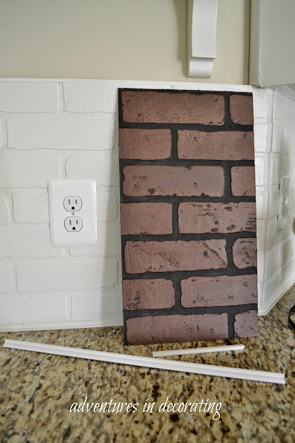 faux subway tile brick kitchen vtwctr