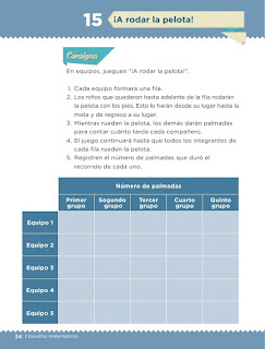 Apoyo Primaria Desafíos matemáticos 1er grado Bimestre 1 lección 15 ¡A rodar la pelota!