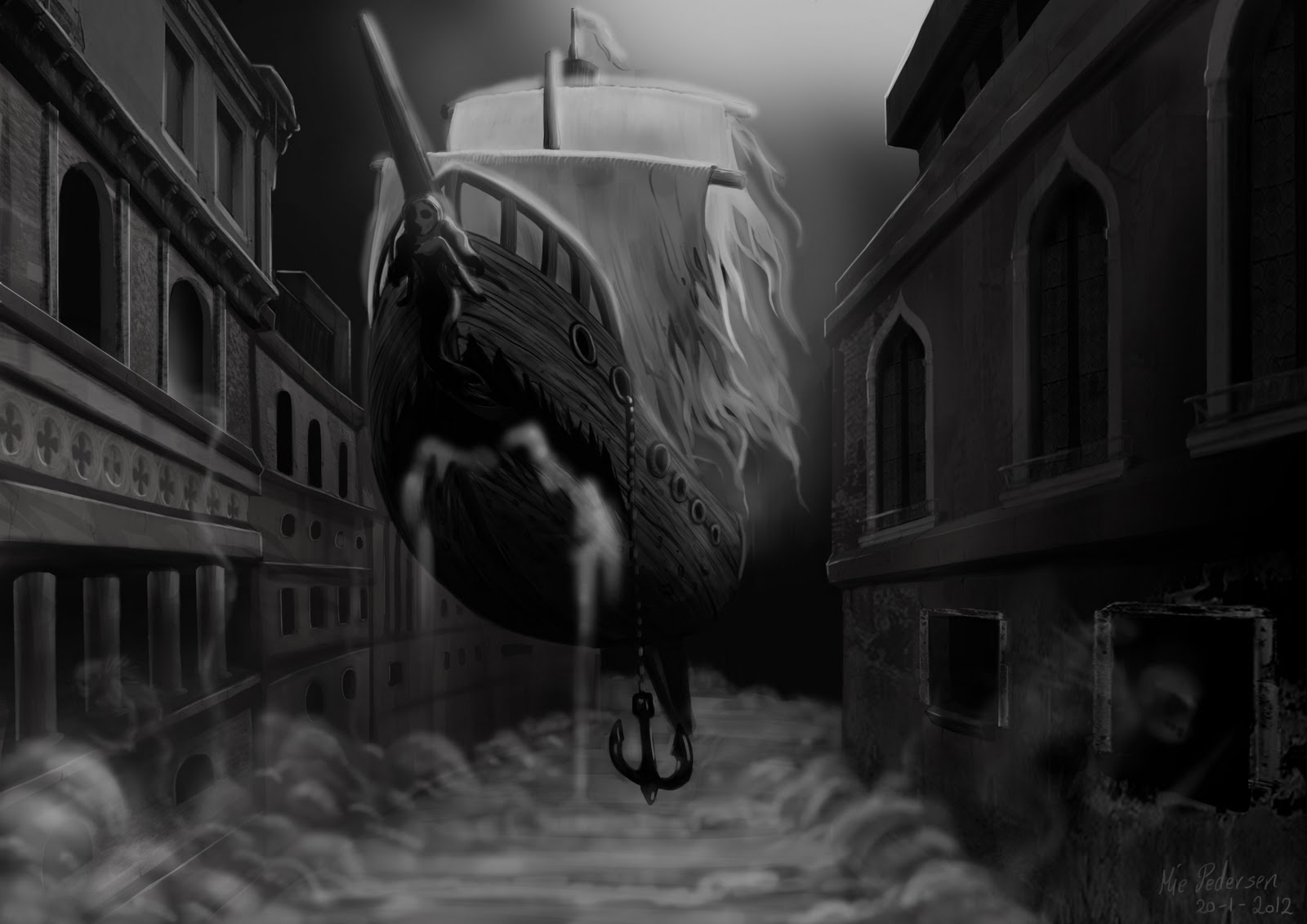 Mie F Y Pedersen Ghost Pirate Ship