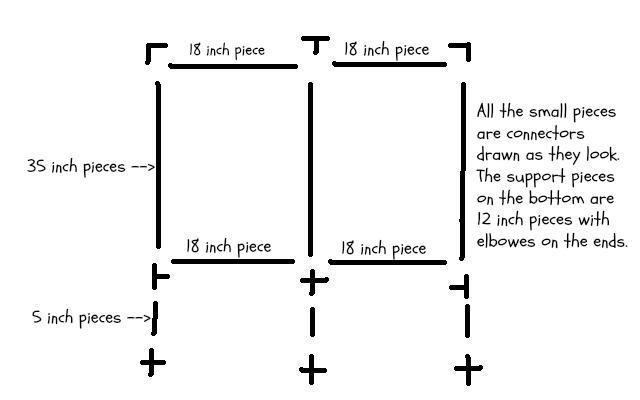 Phunky Phashions: PVC Pipe Garment Rack Do-Over