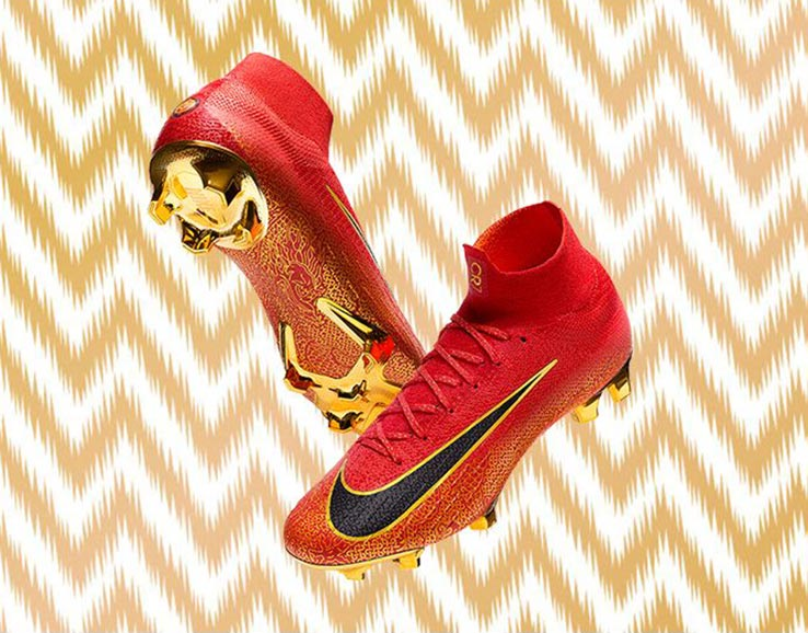 online store 42d36 5477b China Edition - Stunning Red / Gold Nike Mercurial Superfly ...