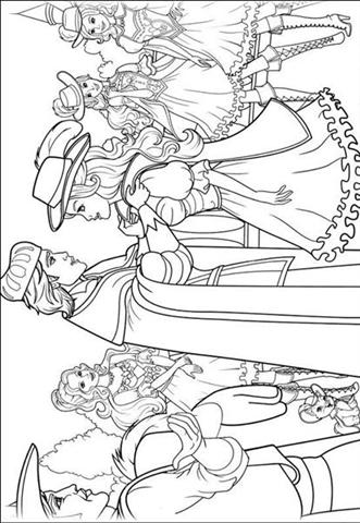 barbie and the three musketeer coloring pages  learn to