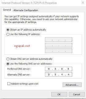 Membuka Situs yang Diblokir dengan Mengganti DNS Server di PC 2